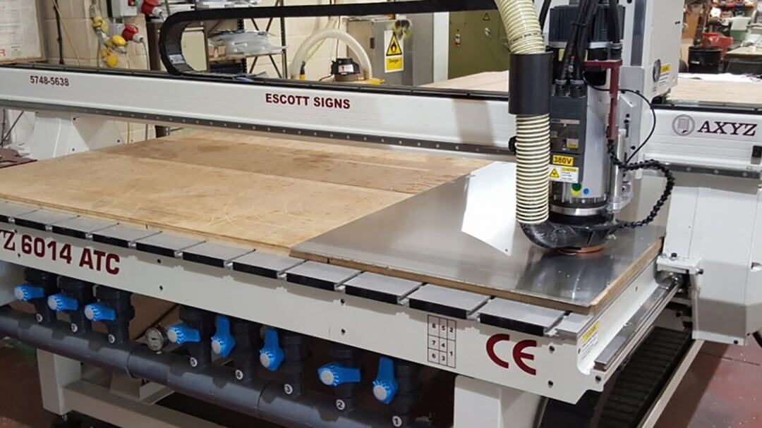 Escott Signs upgrades to large-format AXYZ router | AXYZ US